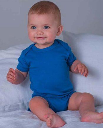 body neonato personalizzato a tinta unita