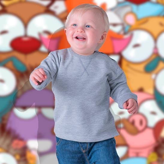 felpa girocollo da neonato personalizzata