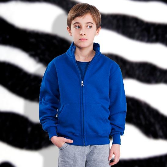 timeless design c812a 96b03 Felpa Personalizzata Zip Jacket da Bambino
