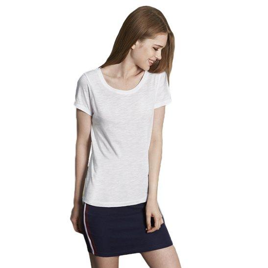 maglie customizzate maglietta donna cotone fiammato online
