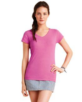 maglietta personalizzata con collo a v donna t-shirtpersonalizzate
