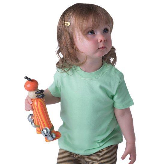 baby manica corta stampata su maglia estiva bimba
