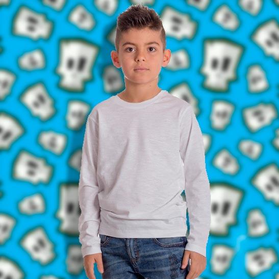 maglia bimbo personalizzata a manica lunga slub