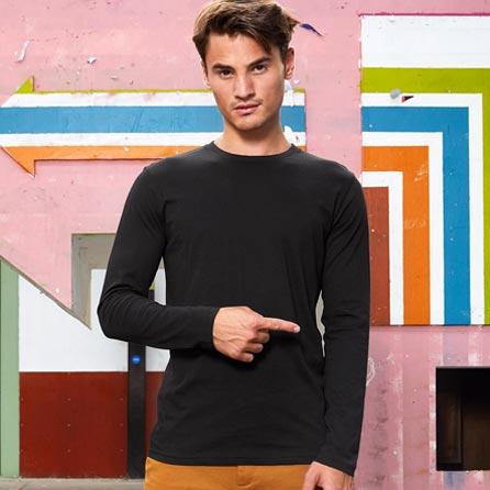 T-Shirts Maglia a Maniche Lunghe Uomo