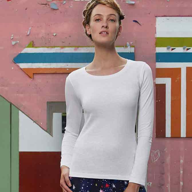 maglietta personalizzata donna a maniche lunghe