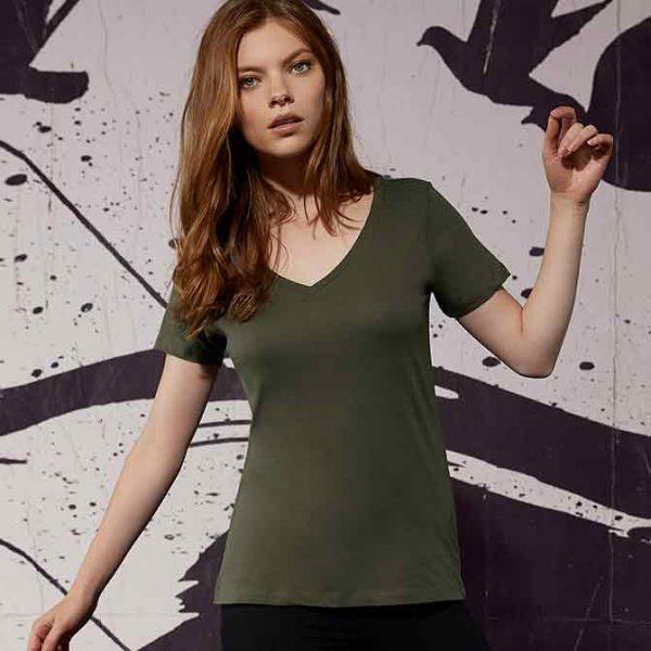 stampa su t shirt scollo v donna personalizzate