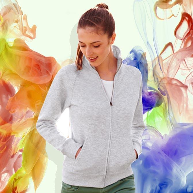 felpe zip jacket da donna personalizzate