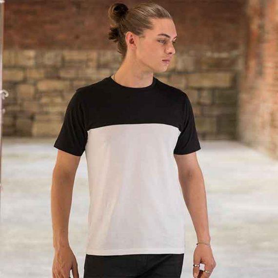 maglietta personalizzata bicolor da uomo