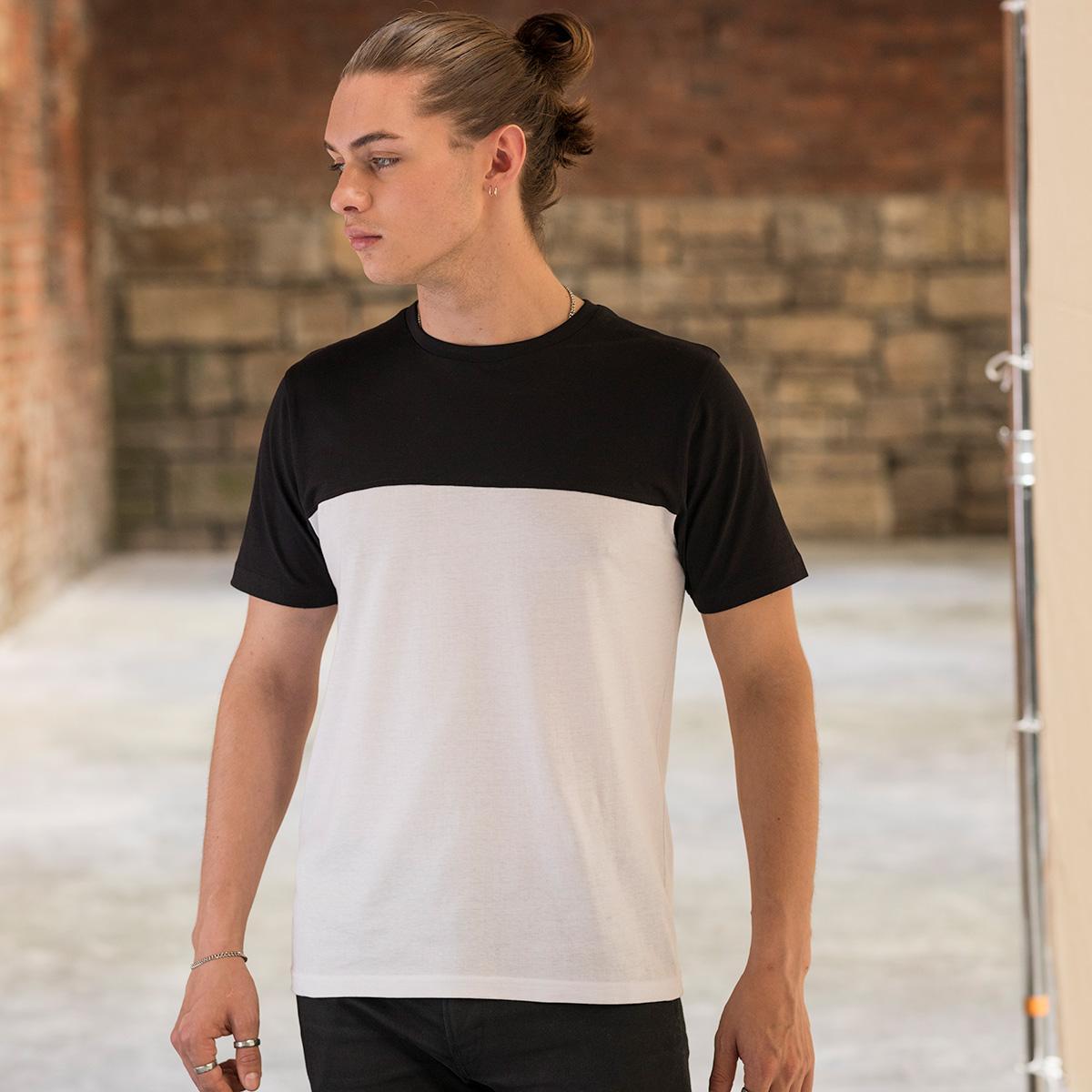 maglietta personalizzata uomo bicolor