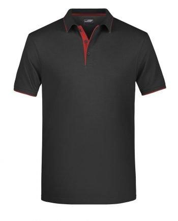 polo personalizzata nero rosso