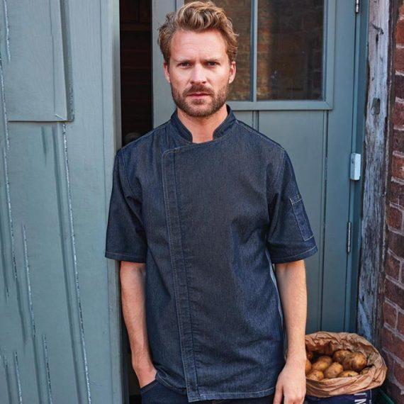 giacca cuoco in jeans personalizzata