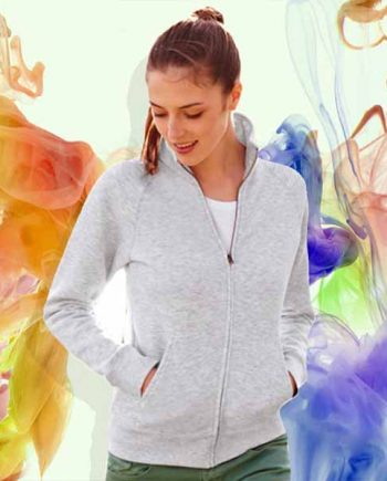 felpa personalizzata con zip jacket da donna