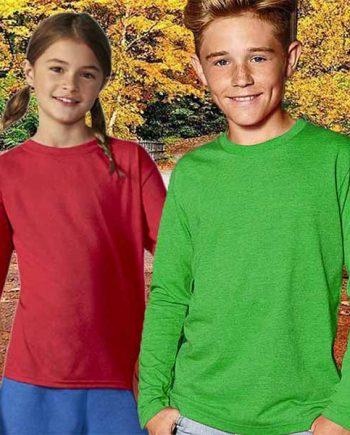 maglia personalizzata a manica lunga da bambino