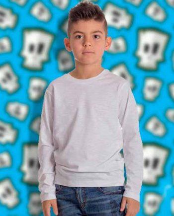 maglietta personalizzata a manica lunga da bambino in cotone