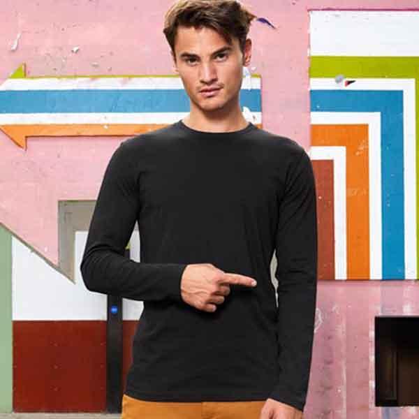 maglia personalizzata a manica lunga da uomo