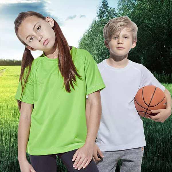 Maglietta Personalizzata Active Dry Sportiva Bambino Unisex