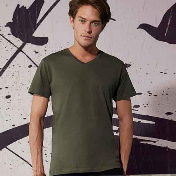 maglietta personalizzata con scollo a v da uomo