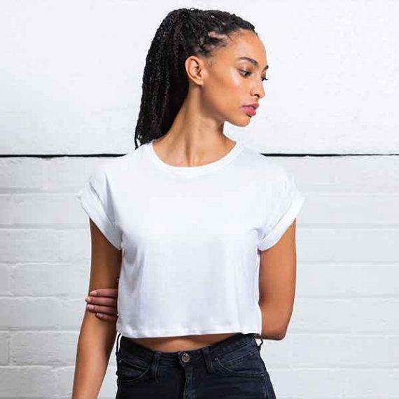 maglietta personalizzata crop top donna