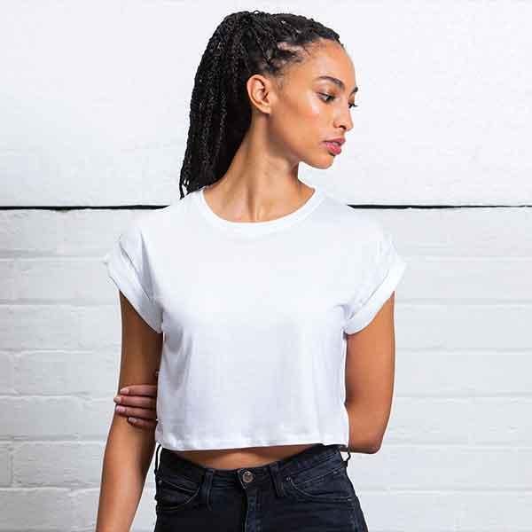 maglietta personalizzata crop top da donna