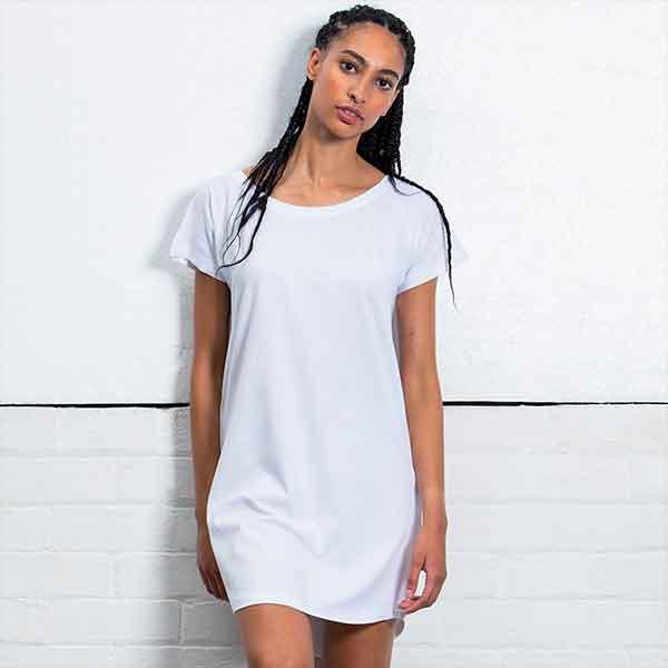 maglietta personalizzata extra lunga vestito da donna