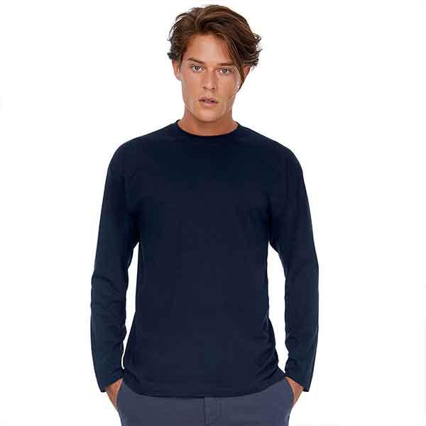 t-shirt personalizzata a manica lunga da uomo