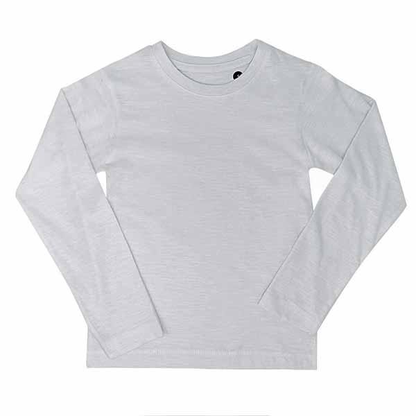 t-shirt personalizzata in cotone a manica lunga da bambino