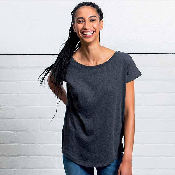 t-shirt personalizzata extra long da donna