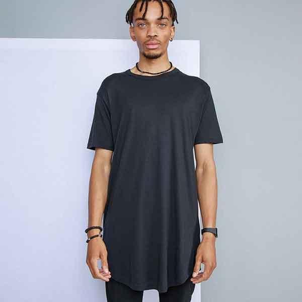 t-shirt personalizzata extra long da uomo