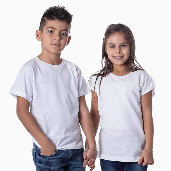 t-shirt personalizzata slub da bambino