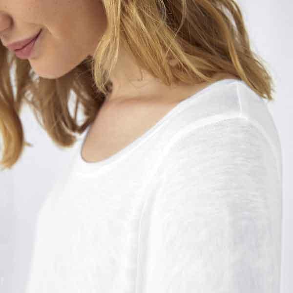 t-shirt personalizzata slub da donna